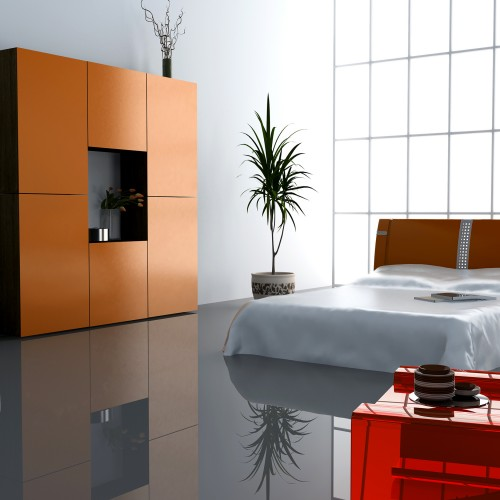Stay cool in a modern bedroom space